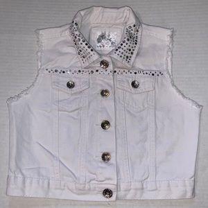 Justice white vest
